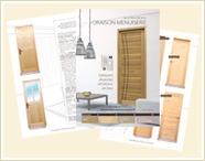 Oraison Menuiserie fabricant de porte et bloc porte d'intérieur en bois massif